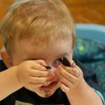 Ethan eating Oreo cookies.